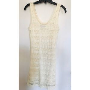 Dresses & Skirts - Ivory Lace Bodycon Dress Size M